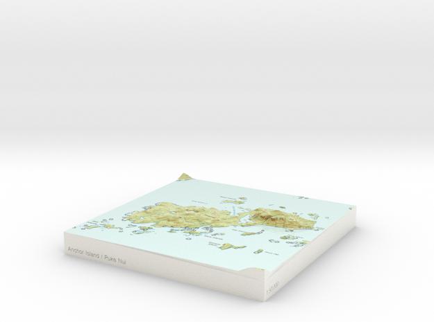 Anchor Island / Puke Nui - 15cm / 1:50k in Glossy Full Color Sandstone
