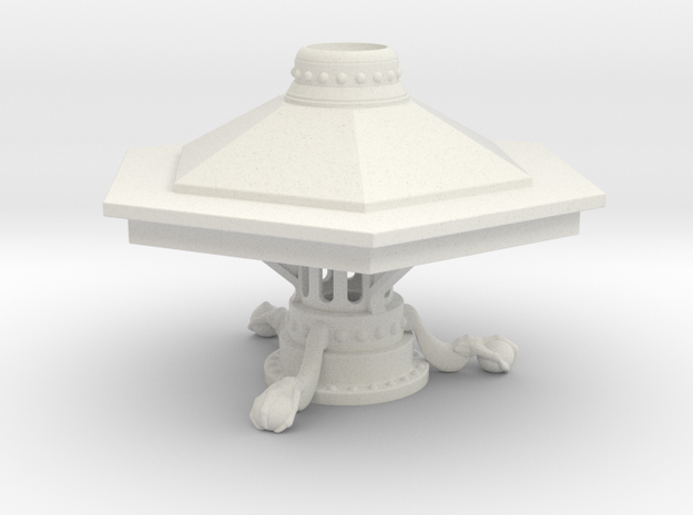 McGann Console  - With Support Plinth in White Natural Versatile Plastic