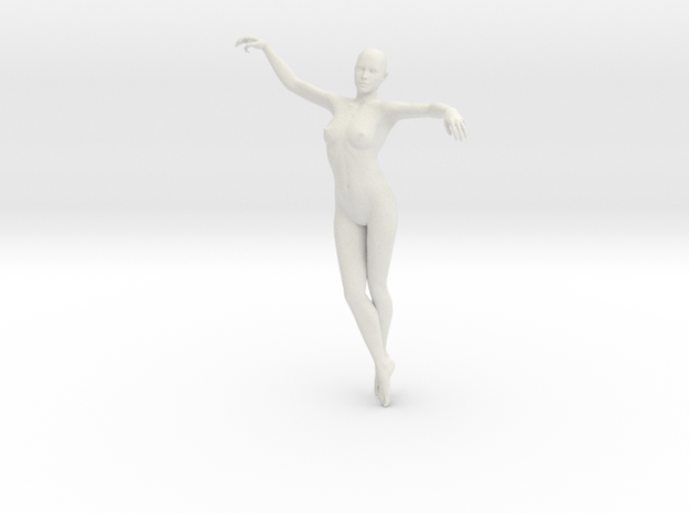 Woman Body in White Strong & Flexible