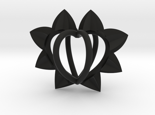 Spiked Cage Heart $25-$300 in Black Natural Versatile Plastic