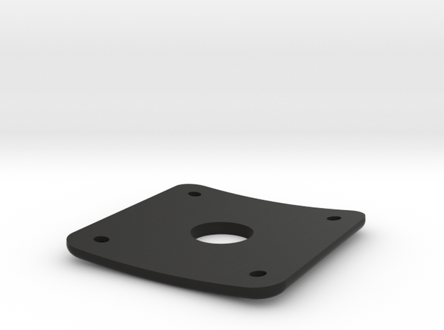 Plug Plate for Gibson Les Paul in Black Natural Versatile Plastic