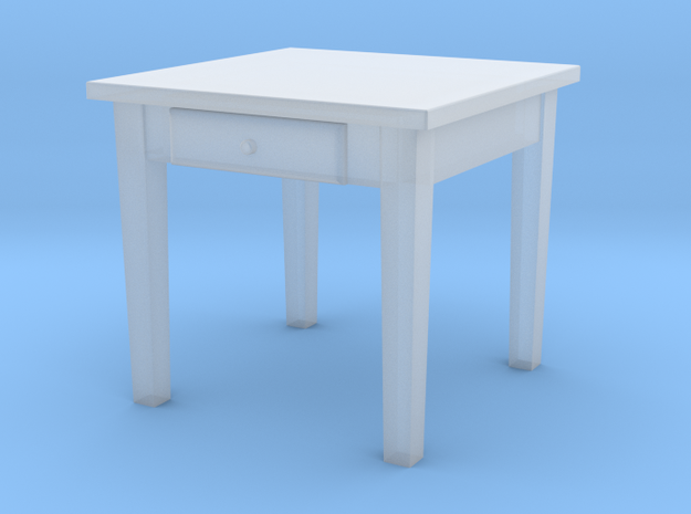 H0 Kitchen Table Square - 1:87 in Frosted Ultra Detail