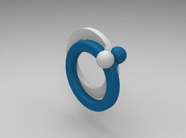 paired-puzzle-ring 3d printed Description