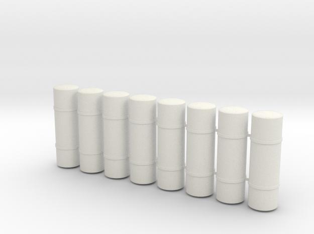 S Scale PRR H8/9/10 Air Tanks in White Natural Versatile Plastic