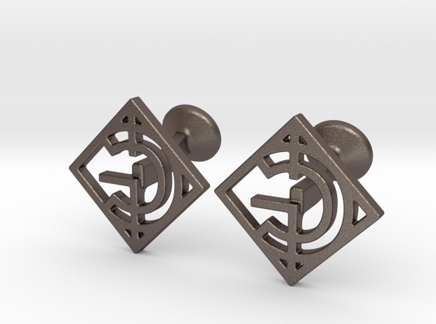 Custom Logo Cufflinks in Stainless Steel