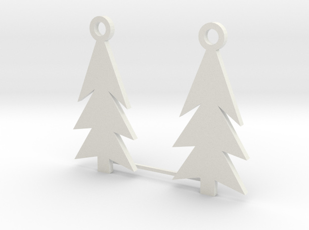 Holiday Earrings in White Natural Versatile Plastic