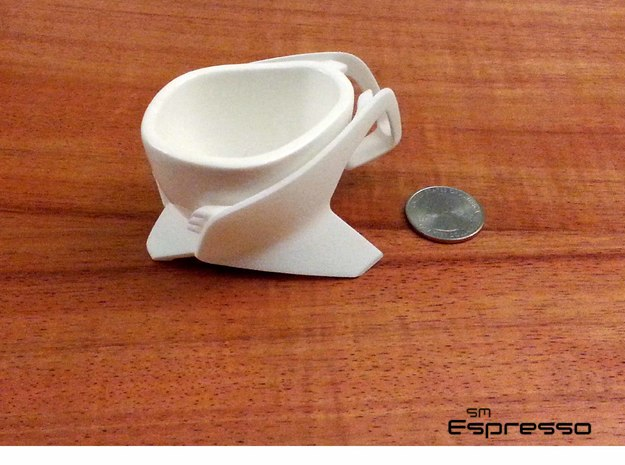 Espresso Shot SpaceShip Cup (no frame) 3d printed Complete set with frame