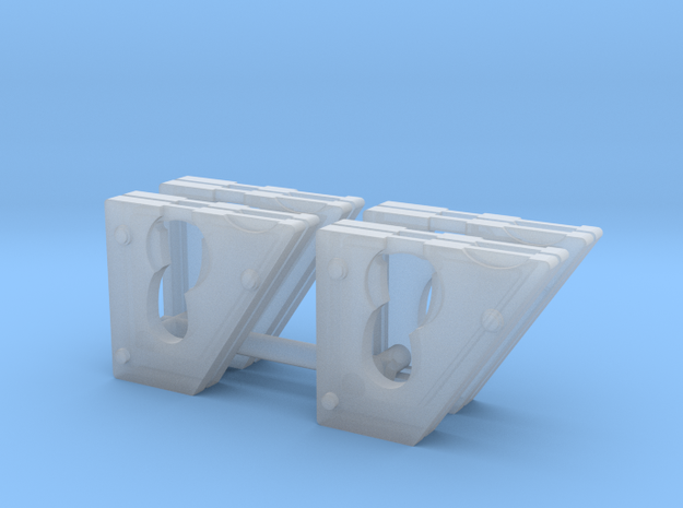 Cheek weights for 1:50 DM 242D/259D skid steers in Frosted Ultra Detail