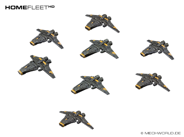 HOMEFLEET Corvette Squadron - 8 ships in Smooth Fine Detail Plastic