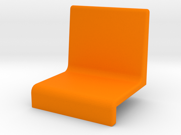 Small armchair for grandstand in Orange Processed Versatile Plastic