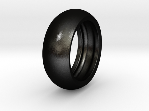 Ralph H. - Slick Ring Hollow in Matte Black Steel: 6 / 51.5