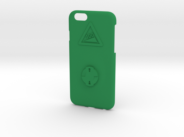 iPhone 6/6S Wahoo Mount Case - Hill Climb in Green Strong & Flexible Polished