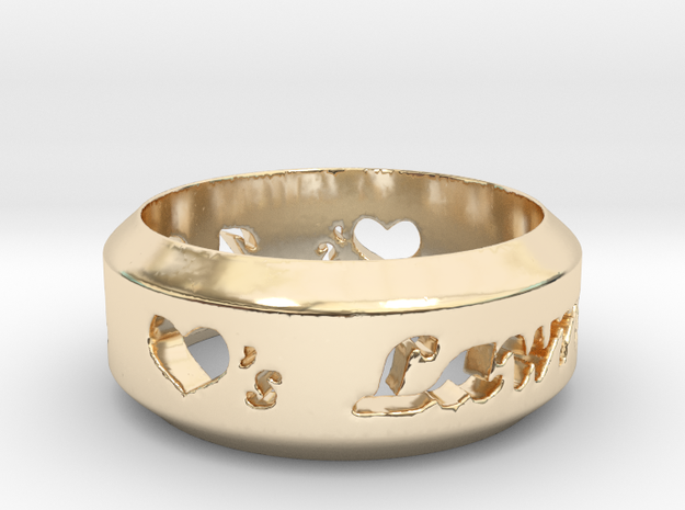 Anniversary Ring - May 7, 1990 in 14k Gold Plated Brass: 10 / 61.5