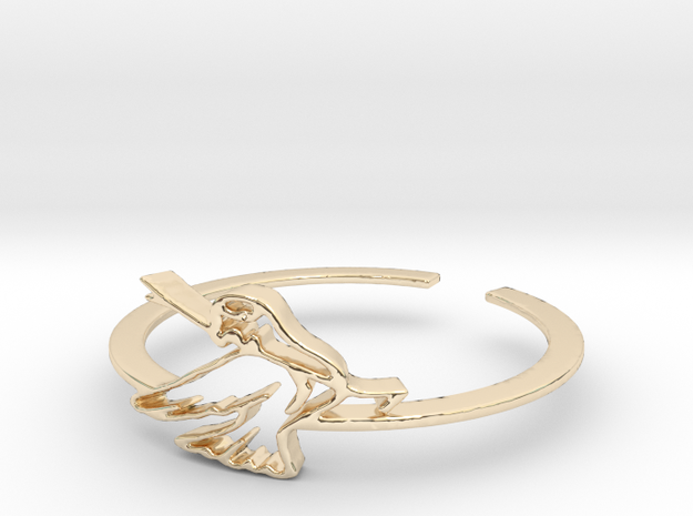 Bird Ring Design Ring Size 7 in 14k Gold Plated Brass