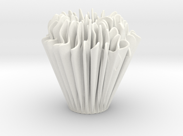 Exponential Growth Vase in White Strong & Flexible Polished