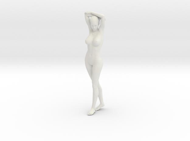 Long Ponytail Girl-034 in White Natural Versatile Plastic