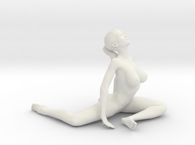 Long Ponytail Girl-045 in White Natural Versatile Plastic