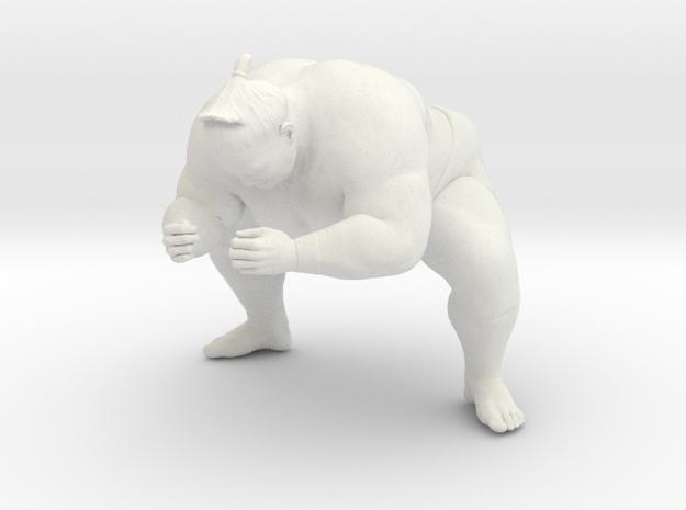 Japanese Sumo 014 in White Natural Versatile Plastic: 1:10