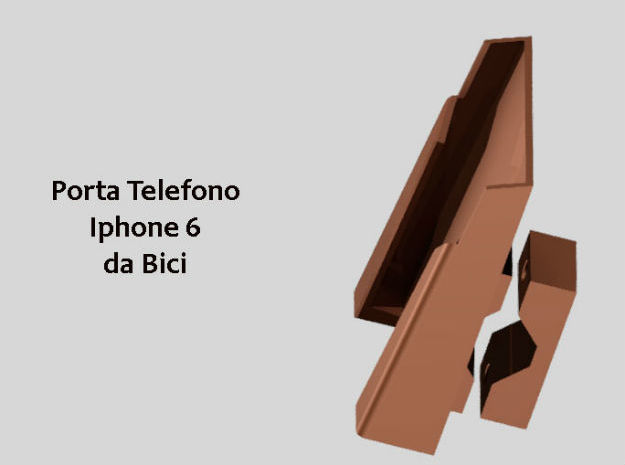 Porta Cellulare Iphone 6  Attacco Bici  in White Strong & Flexible Polished