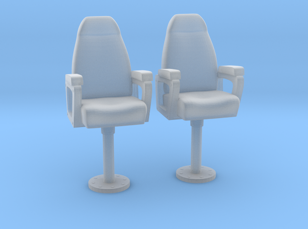 1/24 USN Capt Chair Set in Smooth Fine Detail Plastic