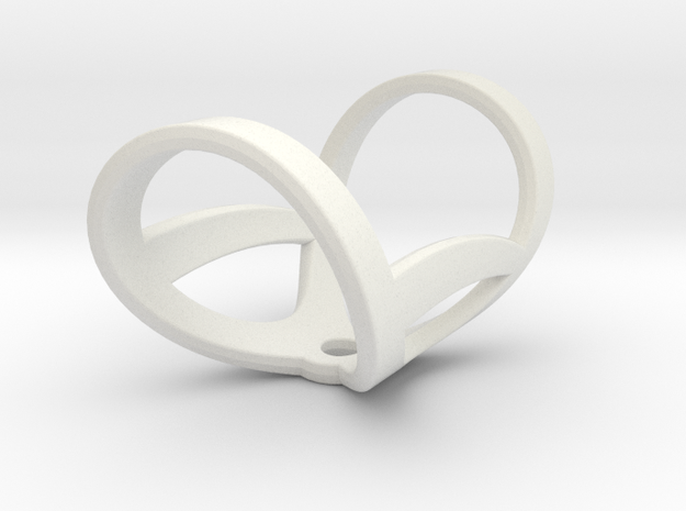Infinity ring splint 5'' to 6'', length 32 mm in White Natural Versatile Plastic