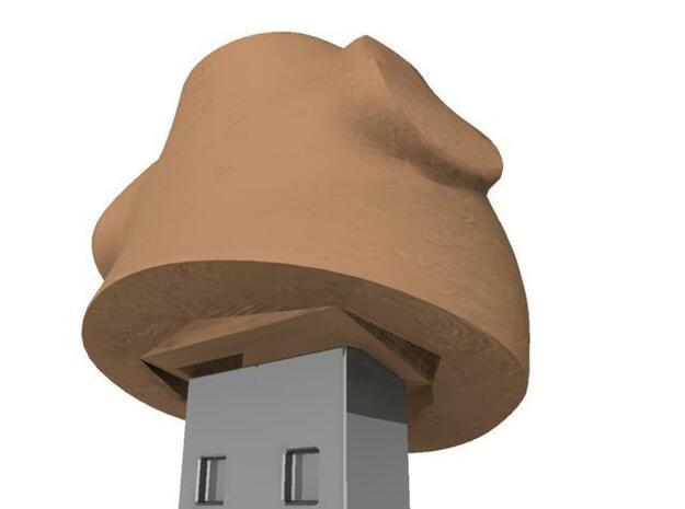 Moai Head USB cap 3d printed back