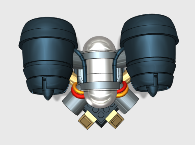 5x Base - Bantam:Jetpacks in Frosted Ultra Detail: Small