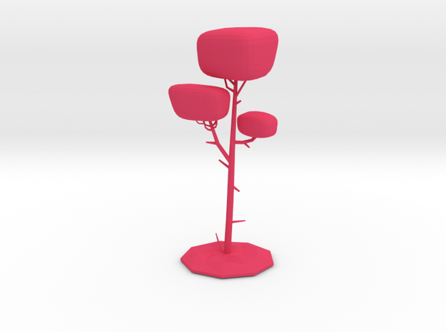 Wonderland Tree in Pink Strong & Flexible Polished: Medium