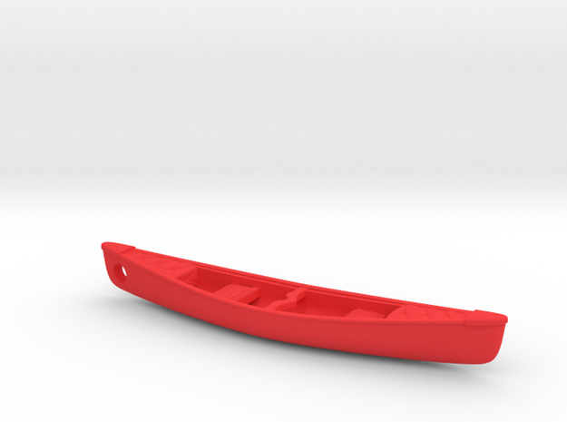 Expedition-Canoe Keychain in Red Processed Versatile Plastic