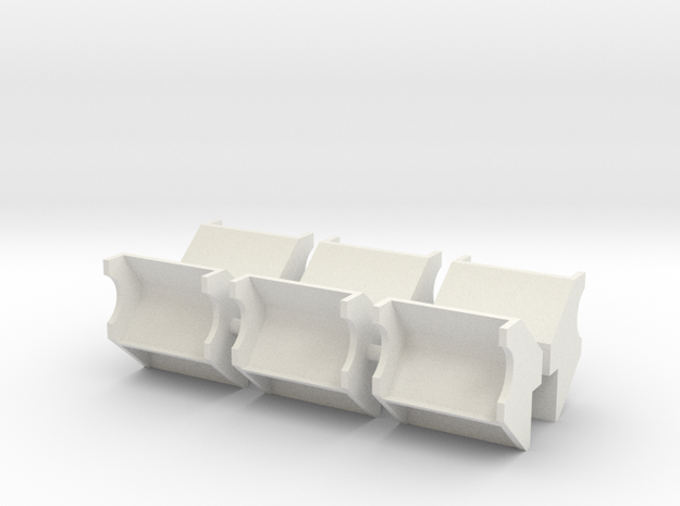 1/96 scale YTB Tug Side Bumpers/Rollers in White Natural Versatile Plastic