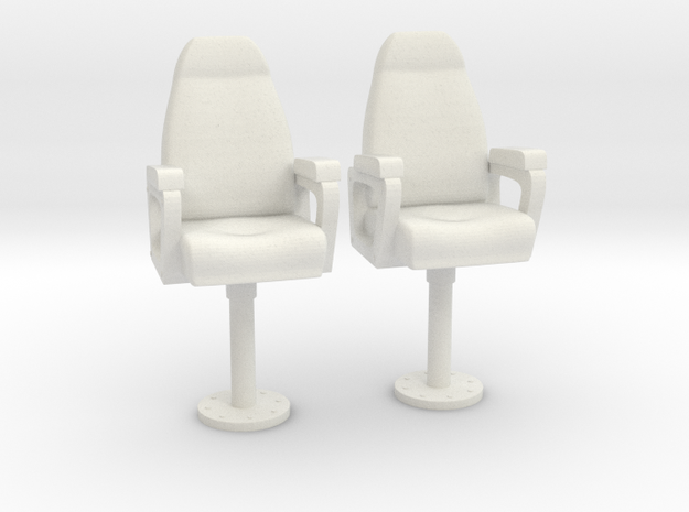 1/27 USN Capt Chair Set in White Strong & Flexible