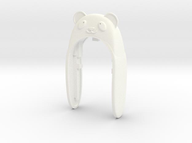 PANDA 2 KEYFOB FOR MINI COOPER F MODEL in White Strong & Flexible Polished