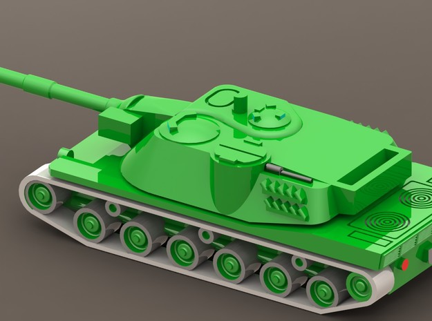 MBT-70 / Kampfpanzer 70 1/285 6mm 3d printed Add a caption...