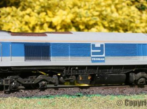 Mendip Rail Ltd Class 59/0 3d printed Finished model by Jo Alder using the Valve Design bodyshell.