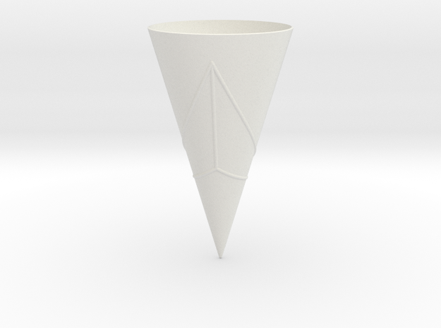 Geodesics Between Points on a 100 degree Cone (3) in White Strong & Flexible