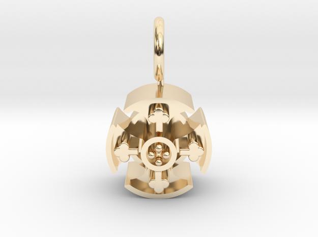 Irish Cross Pendant WP in 14K Yellow Gold