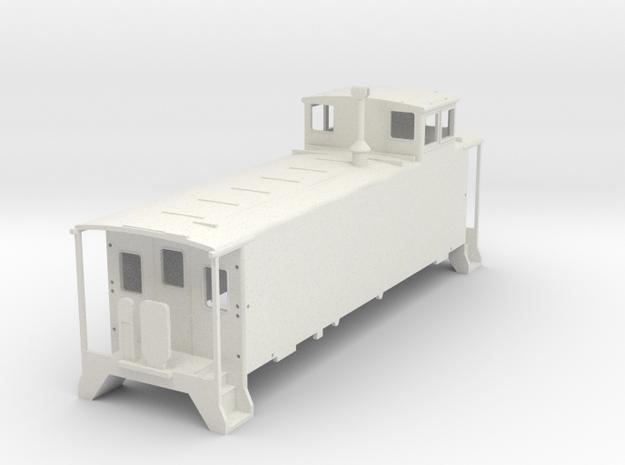 D&RGW Caboose V4 H0  in White Natural Versatile Plastic