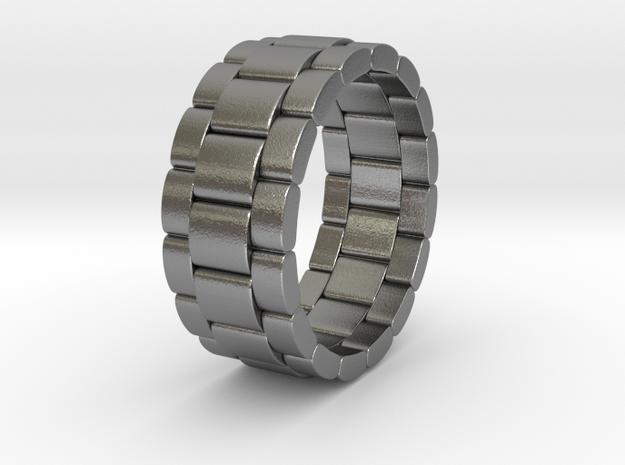 Tibalda - Ring in Natural Silver: 6 / 51.5