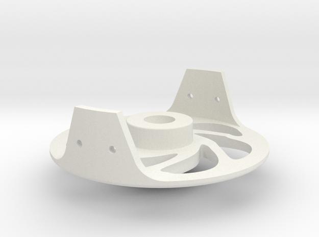 Fly Reel FRAME  in White Natural Versatile Plastic: Small