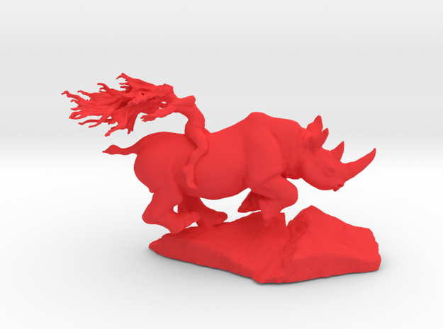 Rhino Rider 75mm in Red Strong & Flexible Polished