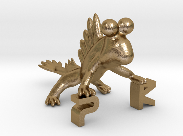 The Parallelkeller Mudskipper Stand in Polished Gold Steel
