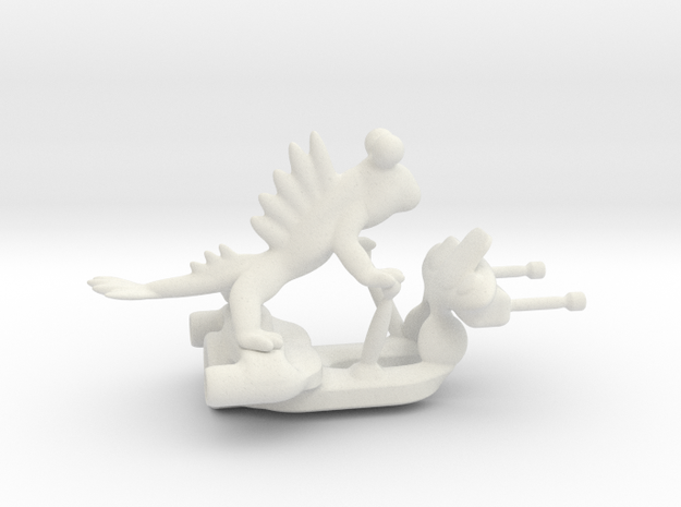 Skiprumudax - the jet-boosted space villain in White Natural Versatile Plastic: Medium