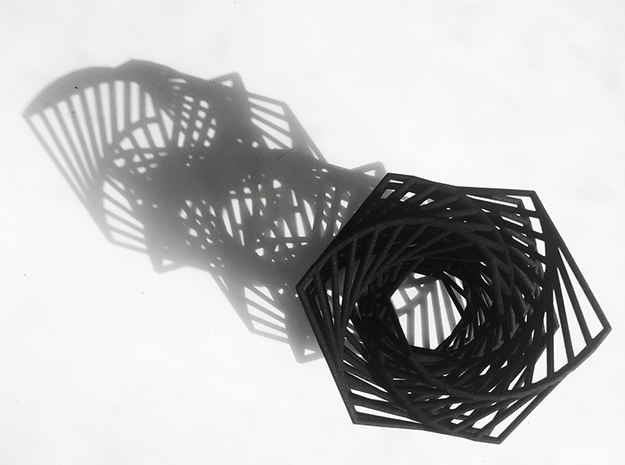 Hexagon Spiral in Black Strong & Flexible