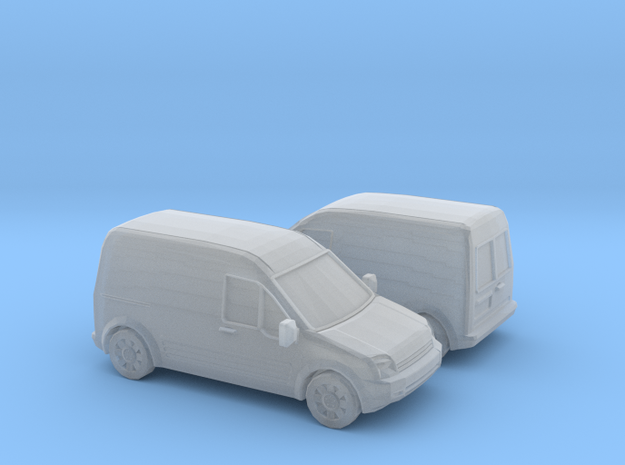 1/148 2X 2002-08 Ford Transit Connect in Smooth Fine Detail Plastic
