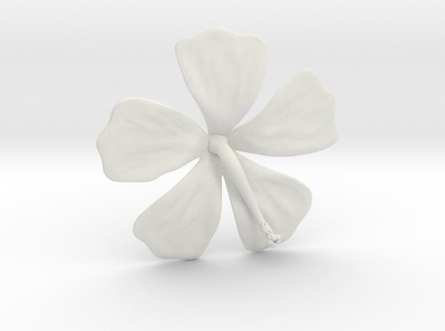Hibiscus Pendant in White Natural Versatile Plastic