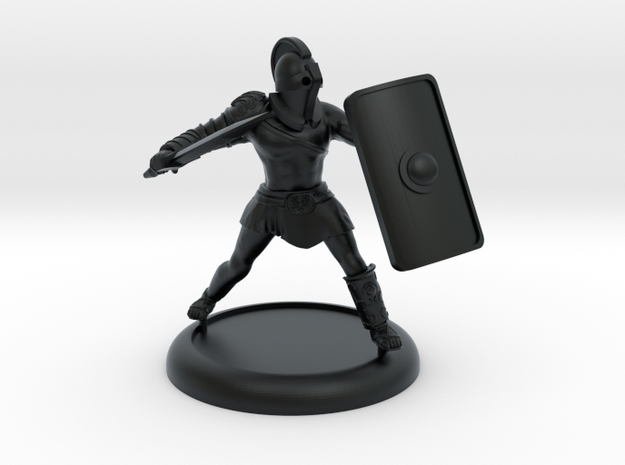 Secutor Gladiator with customisable shield in Black Hi-Def Acrylate