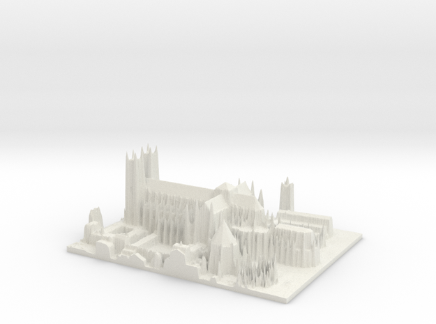Westminster Abbey, London in White Natural Versatile Plastic