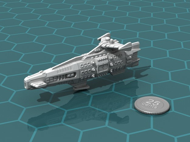 Ikennek Battlecruiser in White Natural Versatile Plastic