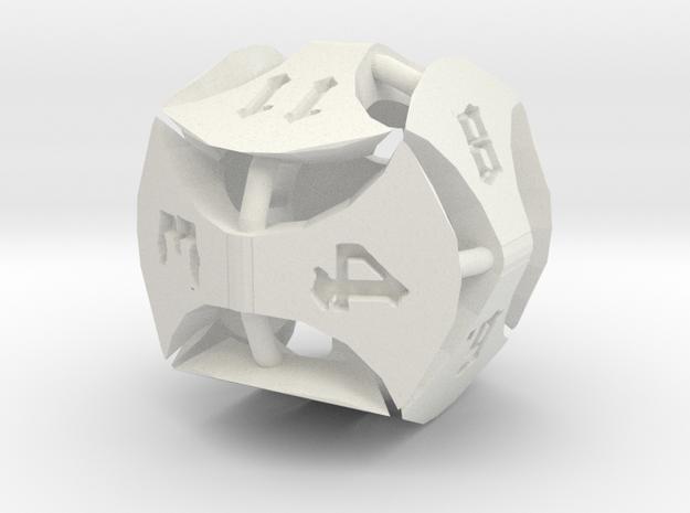 Greataxe D12 in White Natural Versatile Plastic