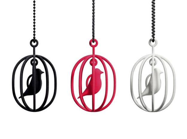 Happy Bird necklaces 3d printed Happy Bird necklace